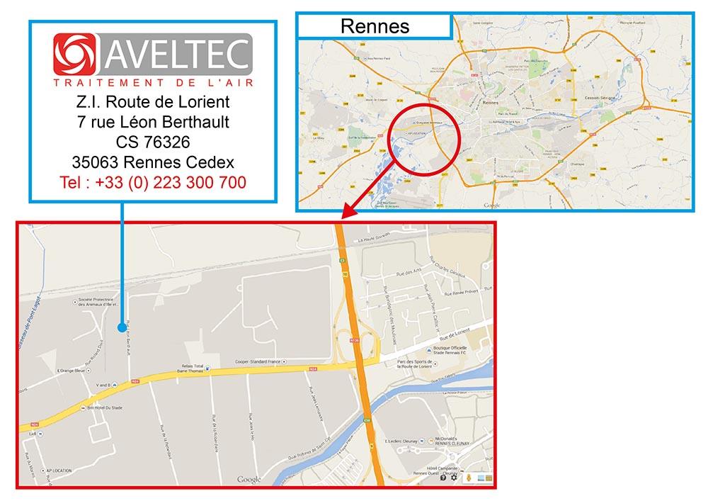 Plan d'accès AVELTEC - 2015